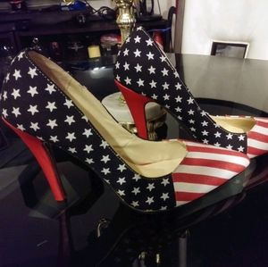 Shoes - Stars and stripes heels